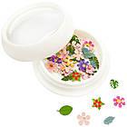 Декор для ногтей пластиковый Экзотические цветы