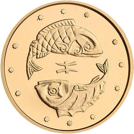 Риби монета 2 гривні золото, фото 2