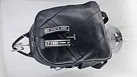 Рюкзак молодёжный черный экокожа стильный. рюкзак женский черный под кожу.