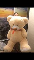 Мишка плюшевый большой мягкий медведь бежевый игрушка