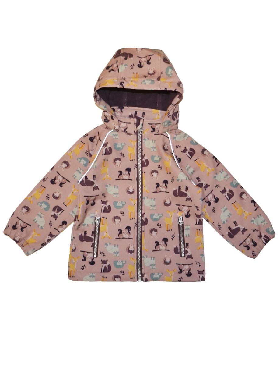 Курточка для девочки ветронепродуваемая на флисе