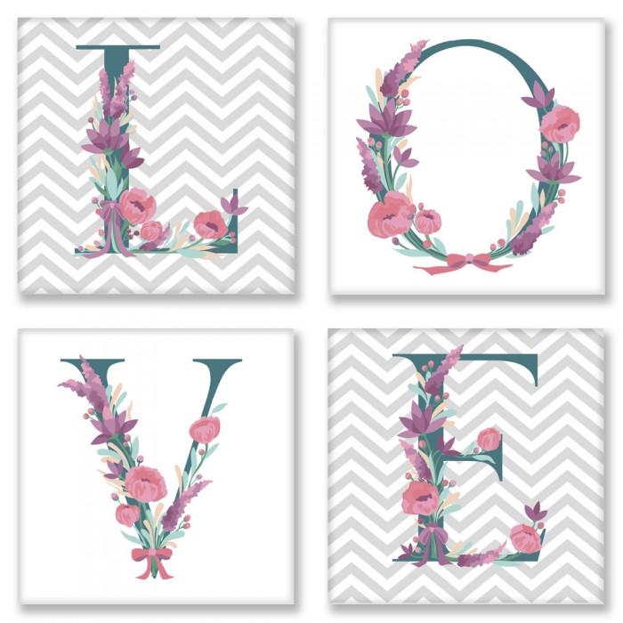 Набор для росписи по номерам LOVE скандинавский стиль ТМ Идейка СН102
