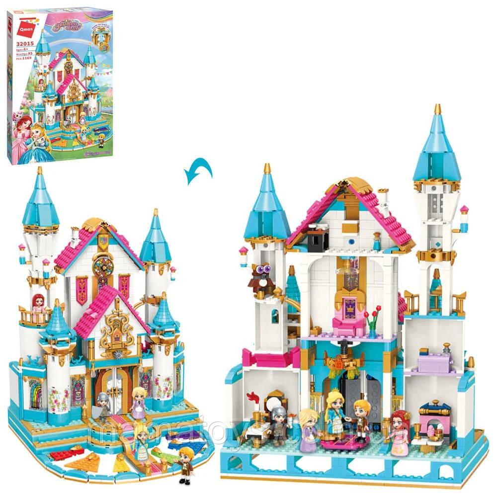 Конструктор Qman 32015 Замок принцессы, мебель, фигурки, 1169 деталей