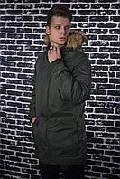 Парка Мужская зимняя хаки HotWint Intruder с мехом, фото 1