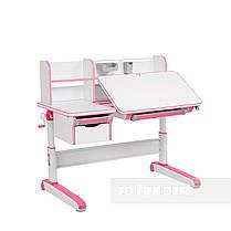 Растущий комплект стол-трансформер FunDesk Libro Pink + подростковое кресло FunDesk Primo Grey, фото 3