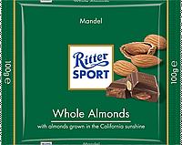 Молочный шоколад Ritter Sport с миндальными орехами 100г.