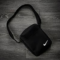 Барсетка Nike черная мужская сумка через плечо найк, фото 1
