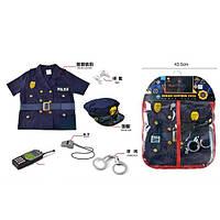 Детский набор  полицейского P022  форма