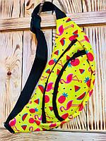 Бананка Flamingo Watermelon фламинго арбуз Мужская | Женская | Детская жёлтая, фото 1