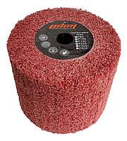 Скотч-брайт в обойме Ø120х100 мм. р60 красный