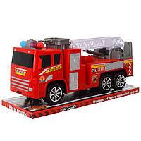 Пожарная машина игрушка 2037  инер-я