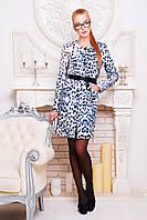 Женское пальто из кашемира до колен с кожаным поясом , фото 1