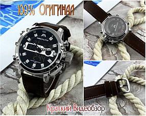 Часы оригинальные мужские наручные кварцевые Megalith 8051M Brown-Silver-Black / часы оригиналы