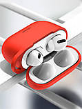Чехол для Apple Airpods Pro с карабином Usams US-BH568 Silicone Protective Cover Red, фото 2