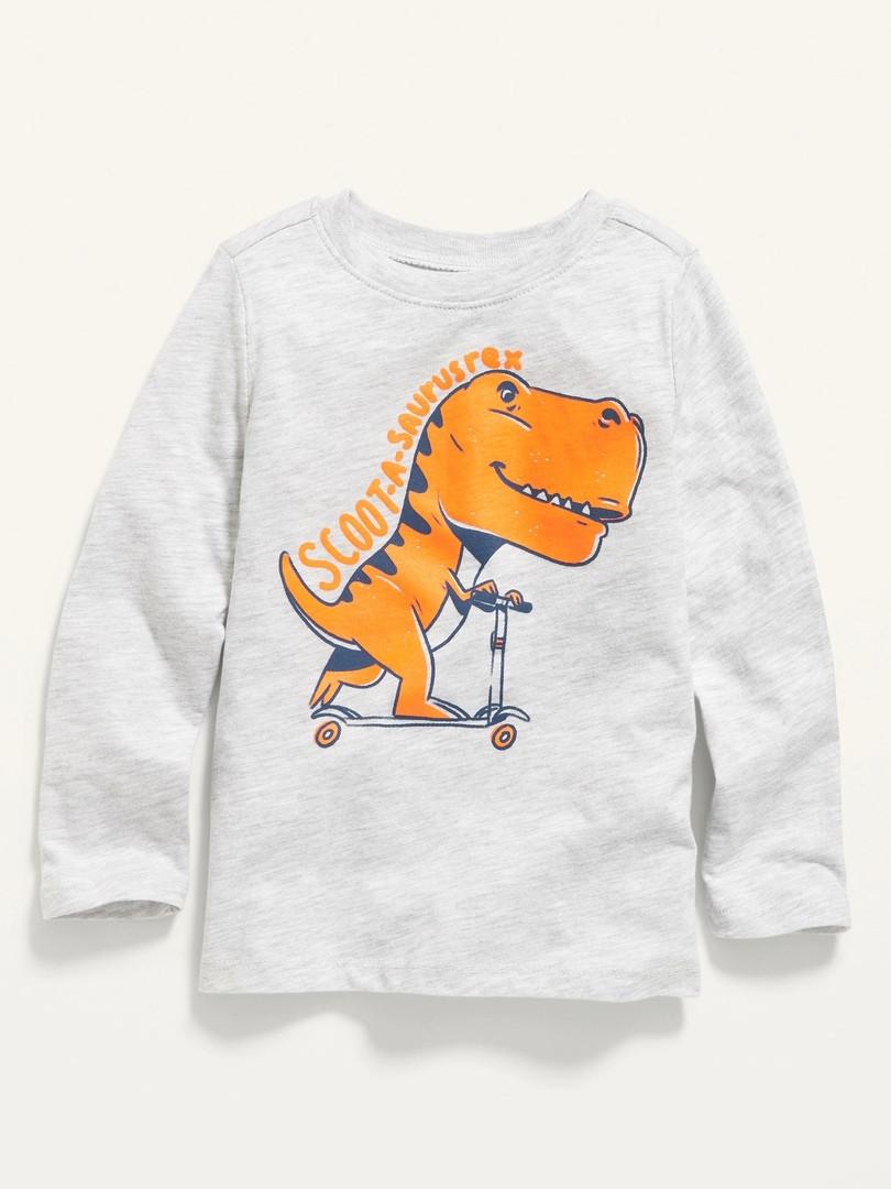 Трикотажний топ з яскравим динозавром для хлопчика Олд Неві
