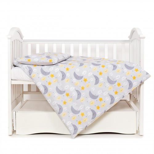 Постельный комплект детский Twins Glamour Limited на 3 предмета, Ноченька серая