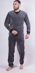 Теплая мужская пижама из махры однотонная 44-62 р