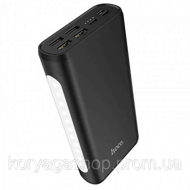 Портативное зарядное устройство Hoco J60 Snowflake table lamp mobile 30000mAh Black