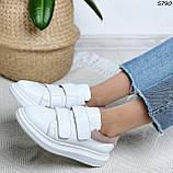Кроссовки женские белые с розовым 5790, фото 3