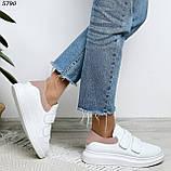 Кроссовки женские белые с розовым 5790, фото 4