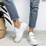 Кроссовки женские белые с розовым 5790, фото 7