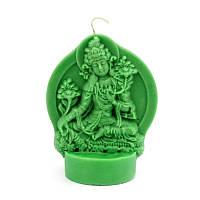 Свеча ритуальная Зелёная Тара