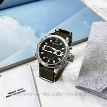 Часы оригинальные мужские наручные кварцевые Megalith 8051M Green-Silver-Black / часы оригиналы, фото 3