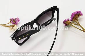 Солнцезащитные черные очки ДЛЯ ЗРЕНИЯ в стиле CELINE, фото 2