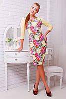 Женское платье нежно-желтого цвета , фото 1