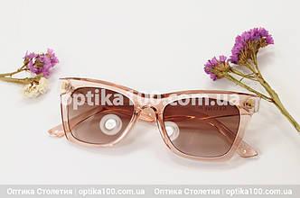 Солнцезащитные рзово-коричневые очки ДЛЯ ЗРЕНИЯ в стиле CELINE, фото 2