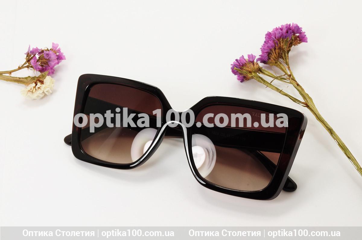 Солнцезащитные очки ДЛЯ ЗРЕНИЯ в стиле Valentino. Коричневая оправа
