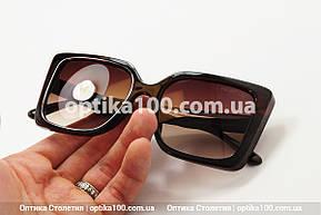Солнцезащитные очки ДЛЯ ЗРЕНИЯ в стиле Valentino. Коричневая оправа, фото 2