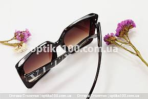 Солнцезащитные очки ДЛЯ ЗРЕНИЯ в стиле Valentino. Коричневая оправа, фото 3