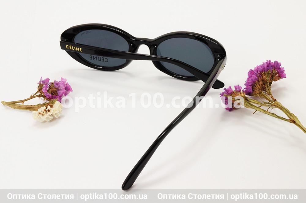 Солнцезащитные черные очки ДЛЯ ЗРЕНИЯ в стиле CELINE. Узкие