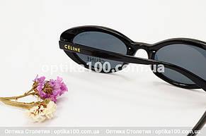 Солнцезащитные черные очки ДЛЯ ЗРЕНИЯ в стиле CELINE. Узкие, фото 3