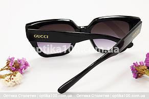 Солнцезащитные очки ДЛЯ ЗРЕНИЯ в стиле Gucci. Черная оправа, фото 2