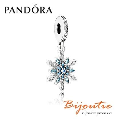 Pandora шарм-подвеска БЛЕСТЯЩАЯ СНЕЖИНКА 791761NBLMX серебро 925 Пандора оригинал