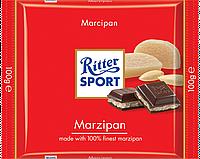 Черный шоколад Ritter Sport с марципаном 100г.