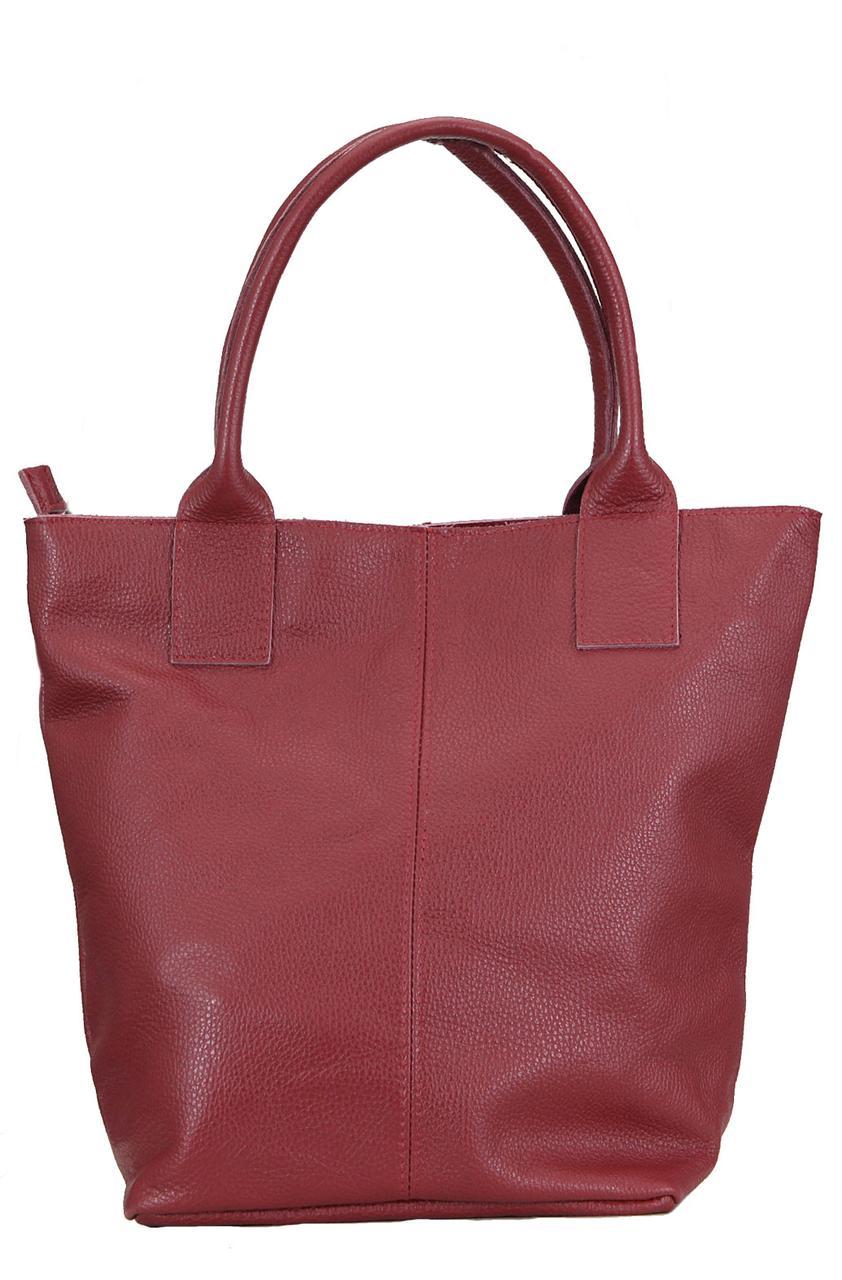Женская сумка PENELOPE кожаная от Diva's Bag бордового цвета