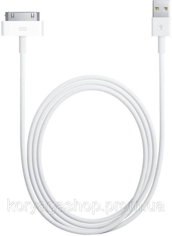 Кабель Apple for iPhone 4 to Usb 2.0 C 2m White #I/S