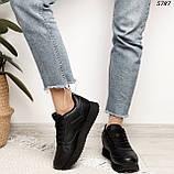 Кроссовки женские черные 5787, фото 3
