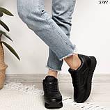 Кроссовки женские черные 5787, фото 5
