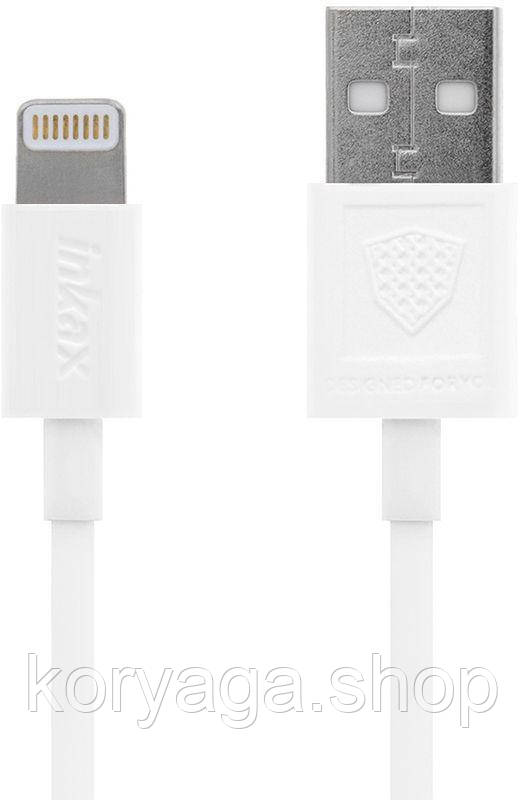 Кабель Inkax CK-13 Lightning cable 1m White #I/S