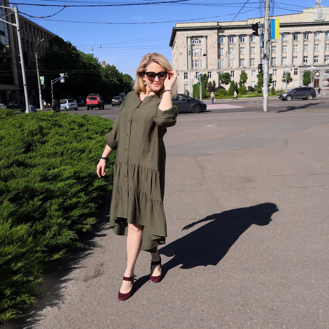 Платье 2020 лен нейлон, оверсайз Бохо. 50-56