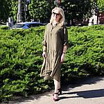 Платье 2020 лен нейлон, оверсайз Бохо. 50-56, фото 2