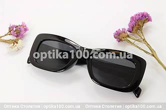 Солнцезащитные очки ДЛЯ ЗРЕНИЯ в черной пластиковой оправе, фото 2
