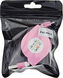 Кабель Toto TKX-66 Flat Usb cable microUsb 1m Pink #I/S, фото 2