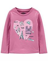 Симпатичний регланчик на французьку тематику для дівчинки ОшКош