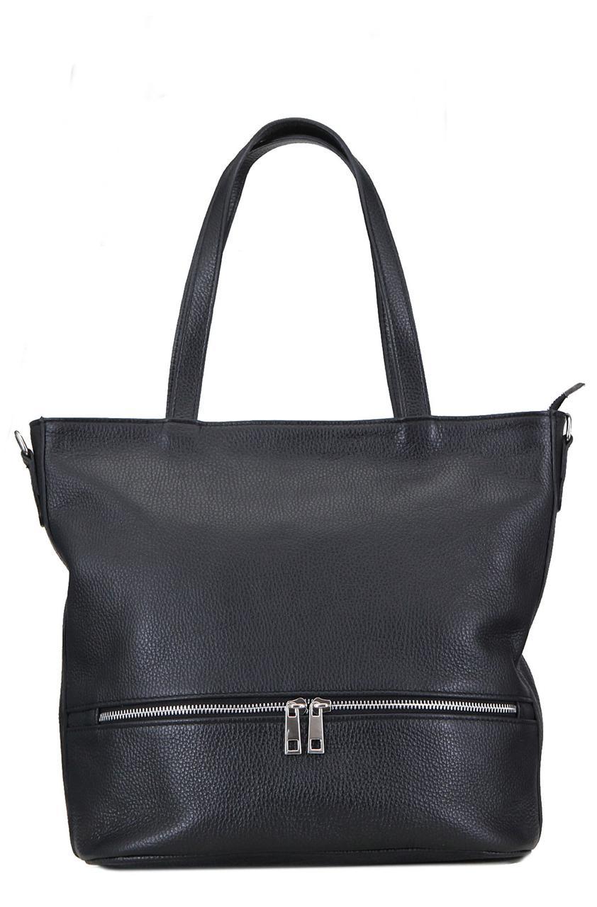 Женская сумка ANTONELLA кожаная от Diva's Bag черного цвета