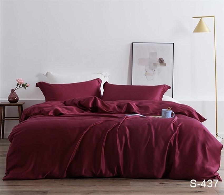 Полуторный комплект постельного белья сатин люкс S437